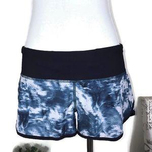 Lululemon athletica Speed Shorts Blue White Size 6